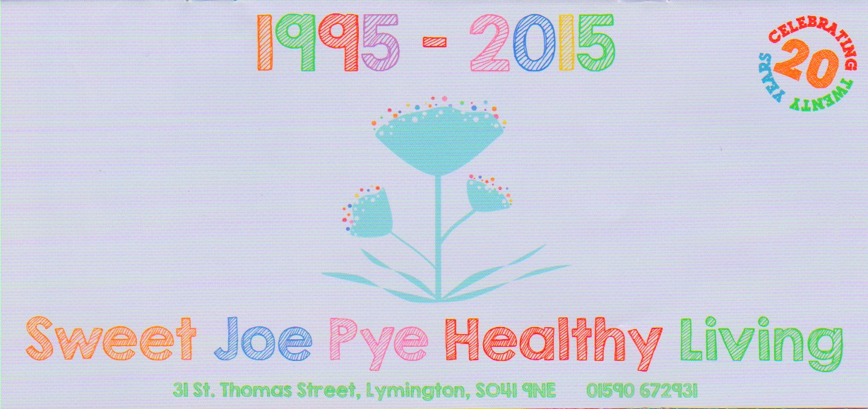 Sweet Joe Pye Natural Health Food Products Shop Store Lymington New Forest Hampshire