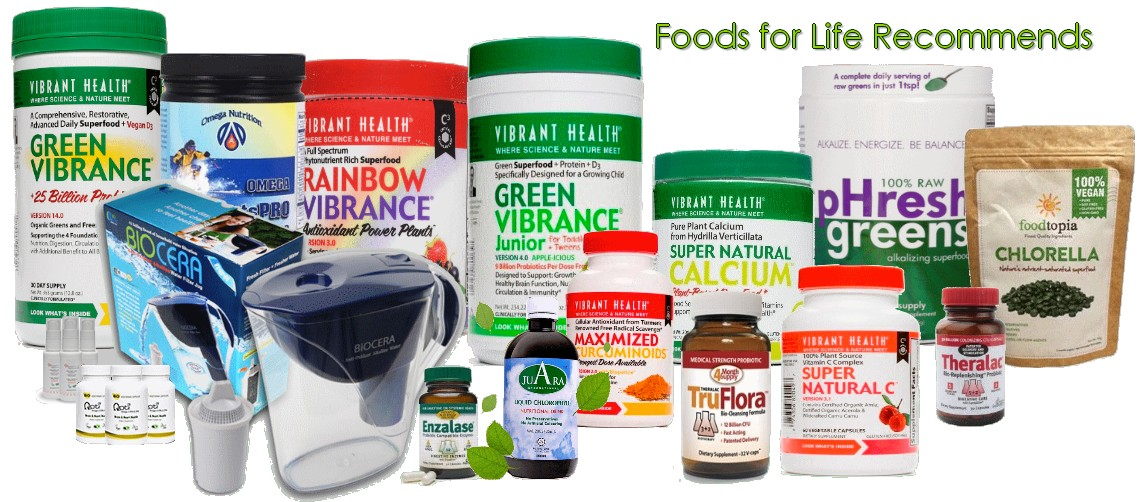 health food vitamins minerals green drinks powders probiotics water filters essential omega 3 fats