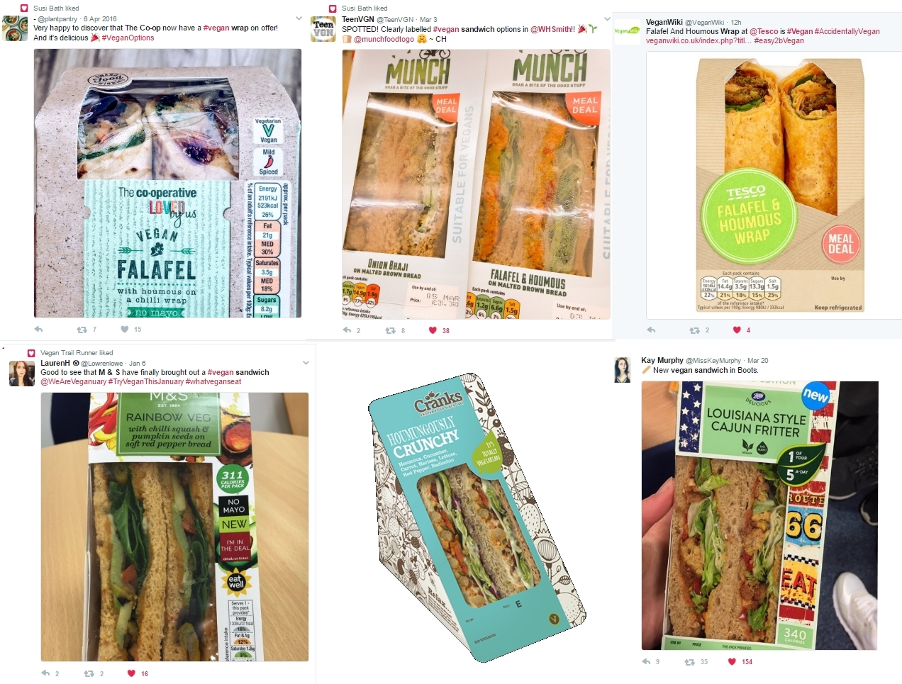 Vegan Sandwiches in the UK wraps healthy eating goes vegan
